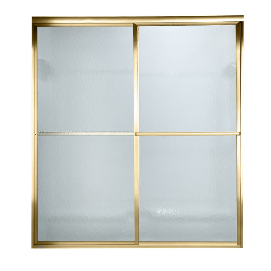 American Standard Prestige 40-in to 42-in W x 71.5-in H Polished Brass Sliding Shower Door