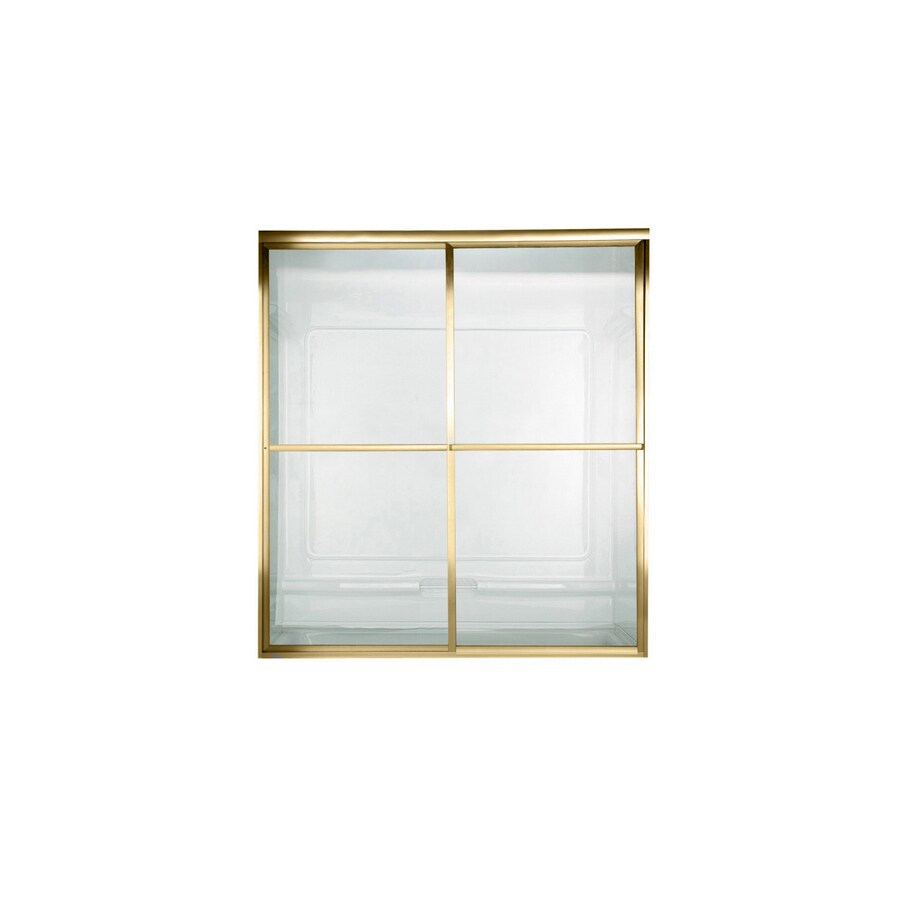 American Standard Prestige 40-in to 42-in W x 68-in H Polished Brass Sliding Shower Door