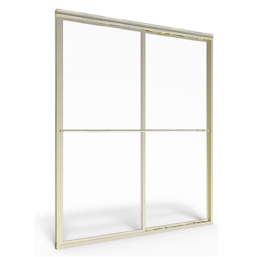 American Standard Prestige 40-in to 42-in W x 68-in H Brushed Nickel Sliding Shower Door