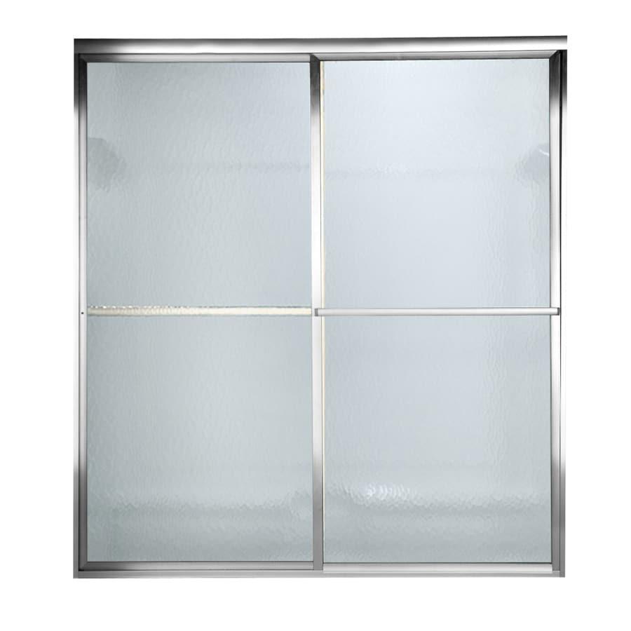 American Standard Prestige 54.5-in W x 56-in H Silver Bathtub Door