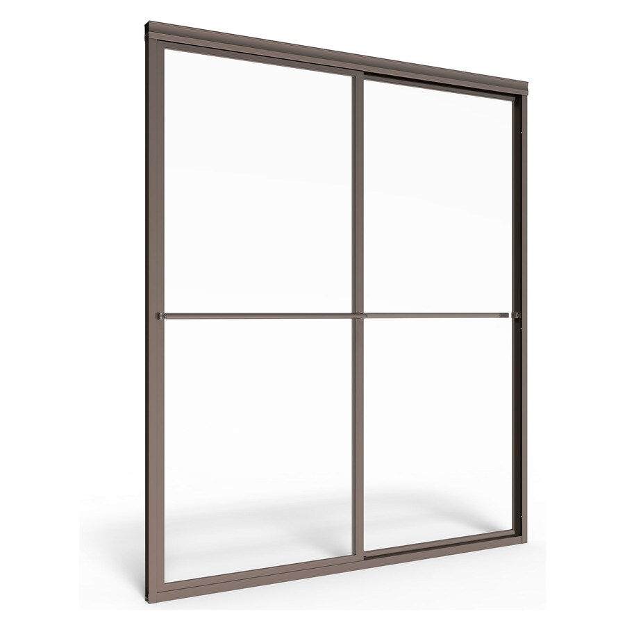 American Standard Prestige 46-in to 48-in W x 68-in H Oil-Rubbed Bronze Sliding Shower Door