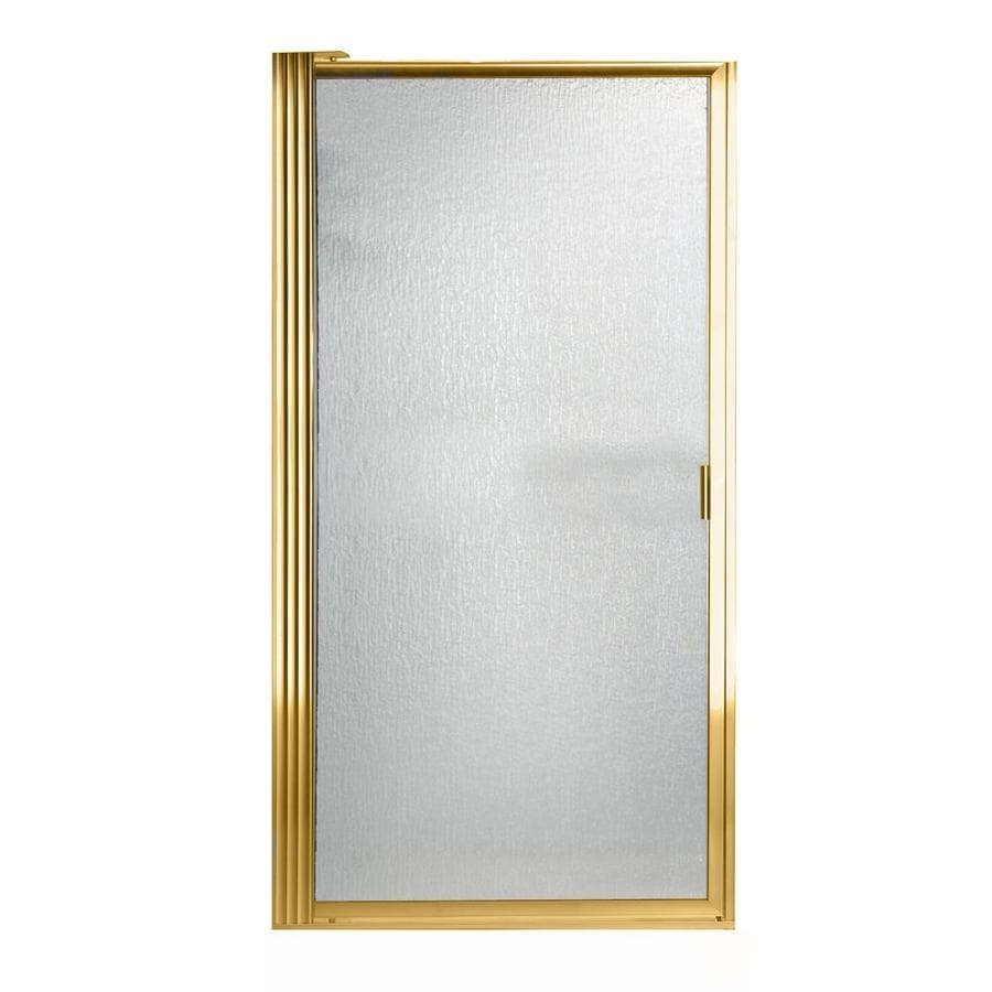 American Standard 27.25-in to 29-in Polished Brass Pivot Shower Door