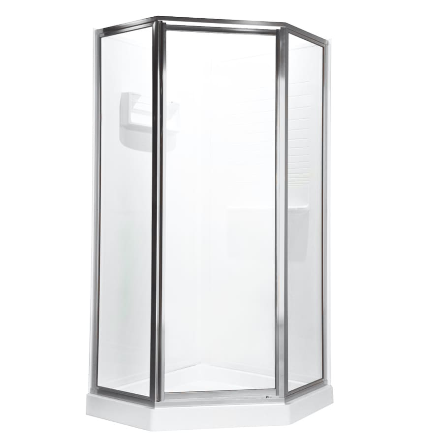American Standard 61-in W x 68-1/2-in H Silver Neo-Angle Shower Door
