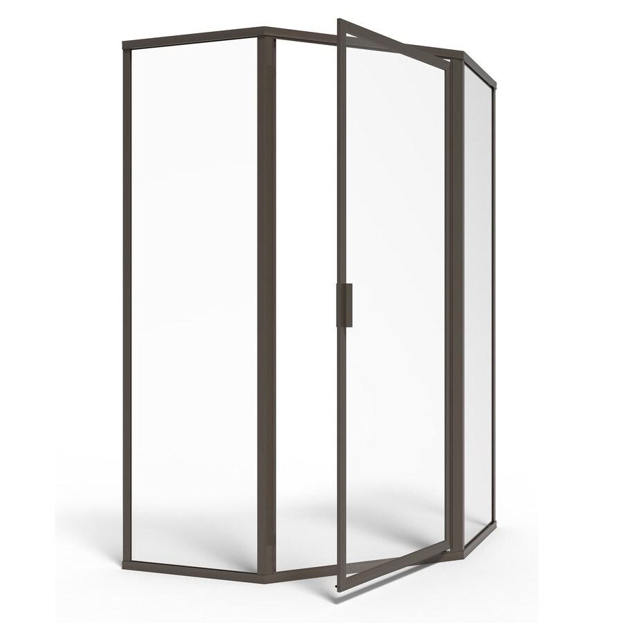 American Standard 59-in W x 68-1/2-in H Oil-Rubbed Bronze Neo-Angle Shower Door