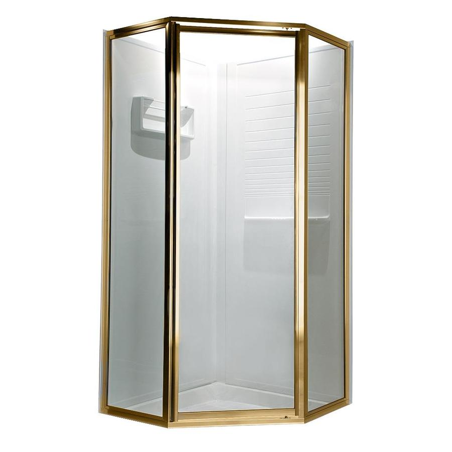 American Standard Framed Polished Brass Shower Door