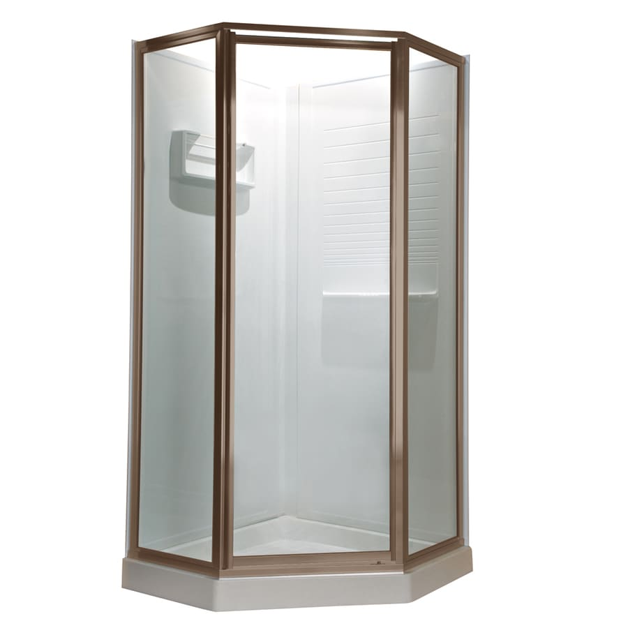 American Standard 61-in W x 68-1/2-in H Brushed Nickel Neo-Angle Shower Door