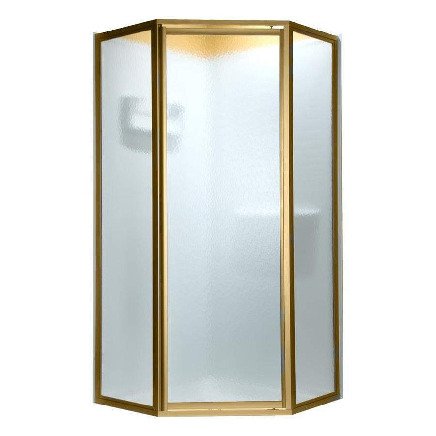 American Standard 57-in W x 68-1/2-in H Polished Brass Neo-Angle Shower Door