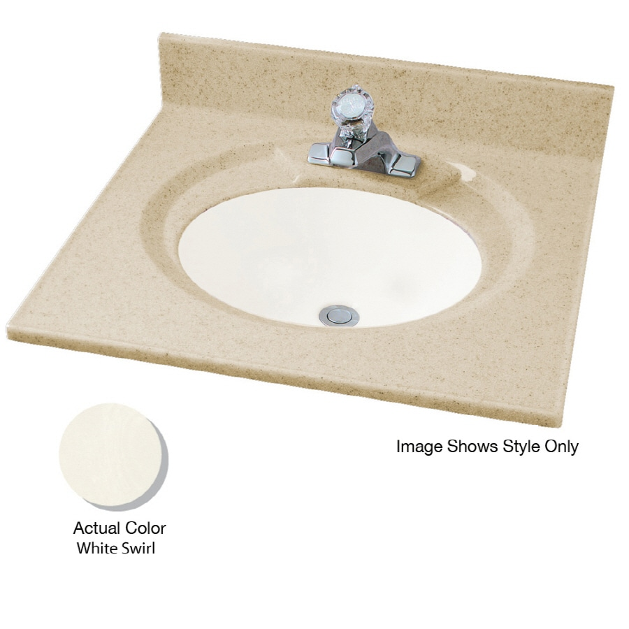 Shop American Standard Astra Lav 43 In W X 22 In D White Swirl Cultured Marble Integral Single
