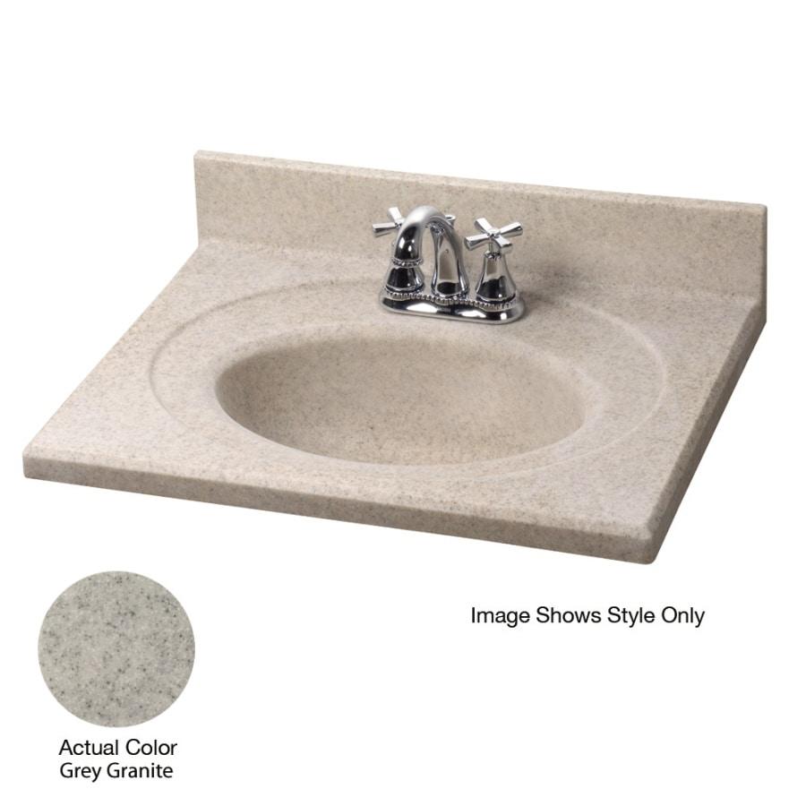 Shop American Standard Silkstone 31-in W x 19-in D Grey Granite ...