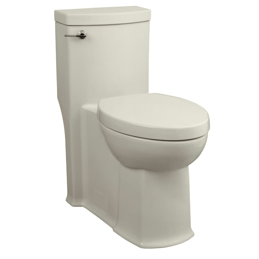 American Standard Boulevard Linen WaterSense Labeled  Elongated Chair Height 1-piece Toilet 12-in Rough-In Size