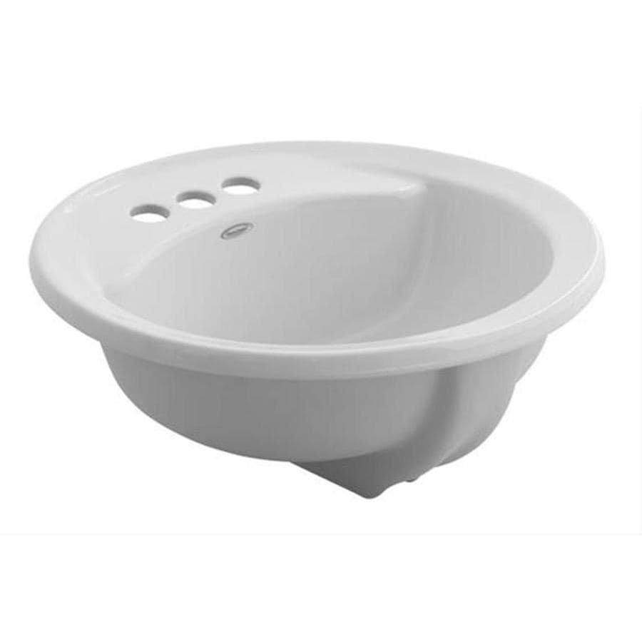 Shop American Standard White Drop-in Round Bathroom Sink with ...