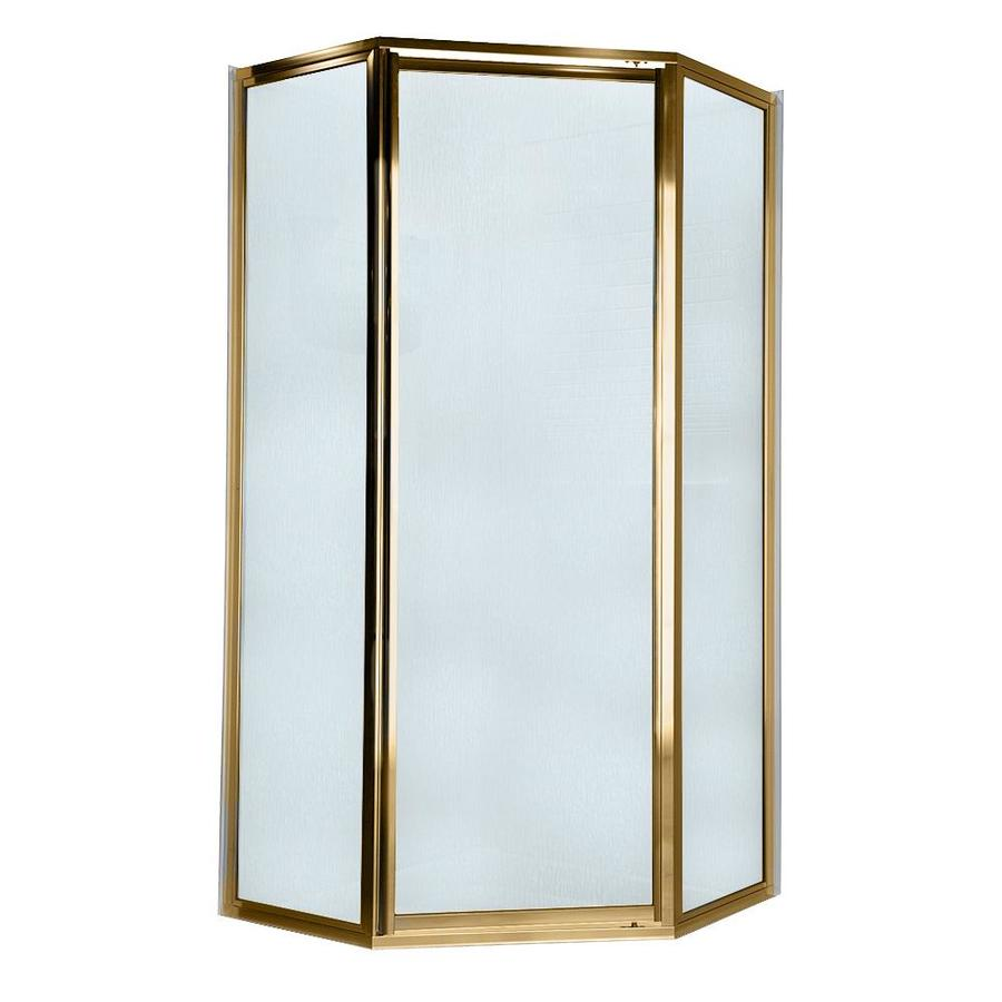 American Standard 69-in W x 68-1/2-in H Polished Brass Neo-Angle Shower Door