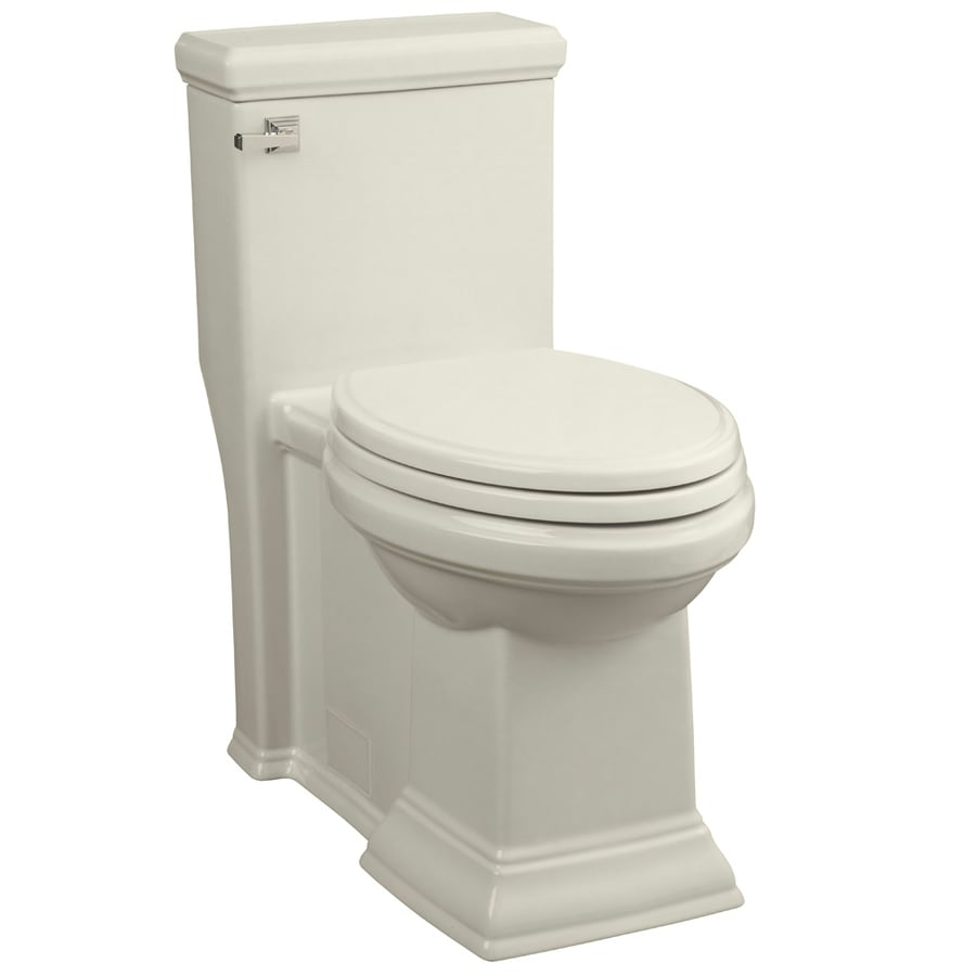 American Standard Town Square 1.28-GPF (4.85-LPF) Linen Elongated Chair Height 1-piece Toilet