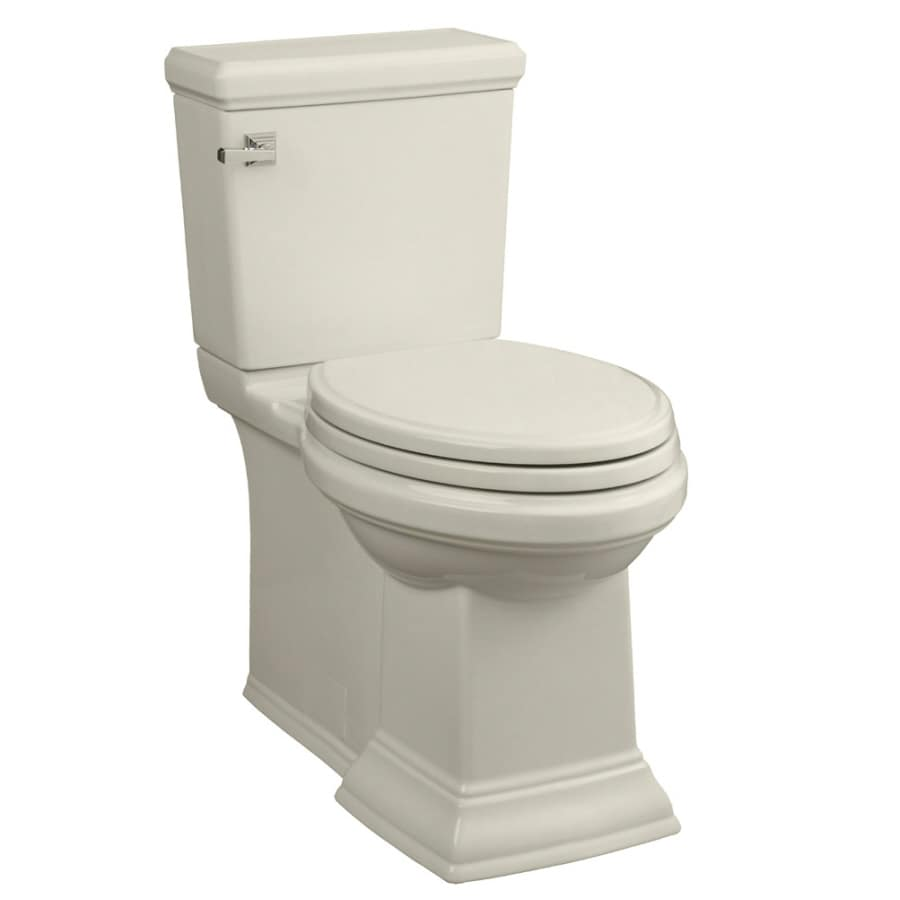 American Standard Town Square 1.28-GPF (4.85-LPF) Linen Elongated Chair Height 2-piece Toilet