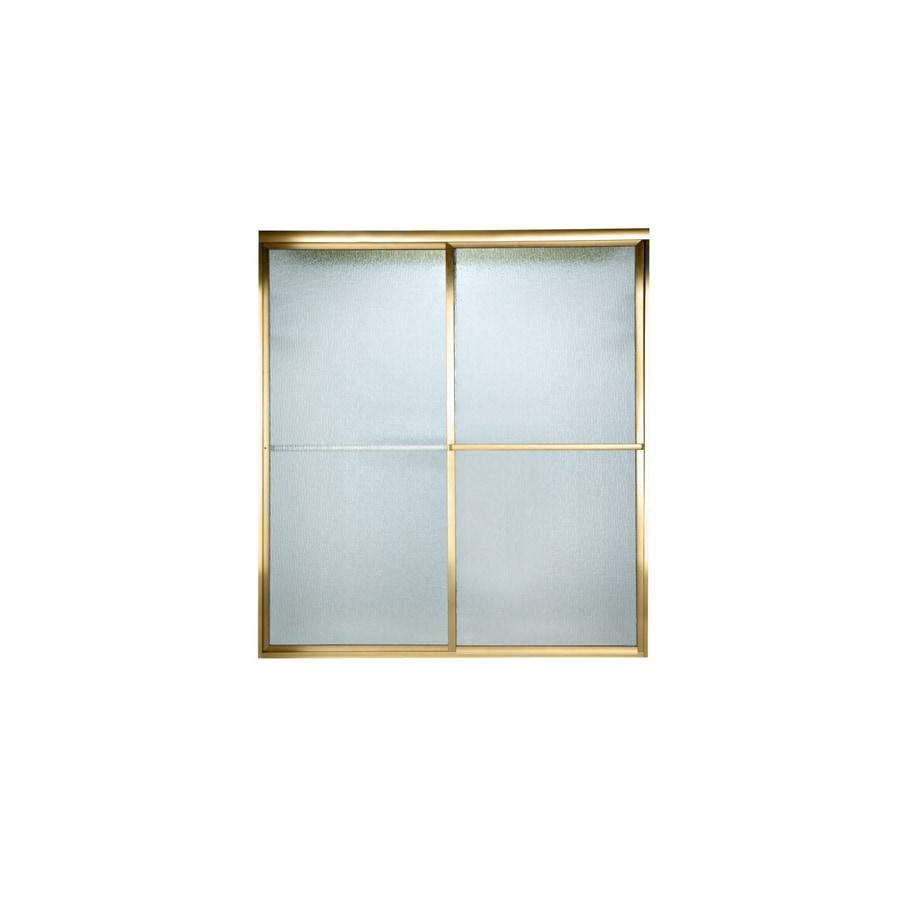 American Standard Prestige 40-in to 42-in W x 71.5-in H Polished Brass Sliding Shower Door