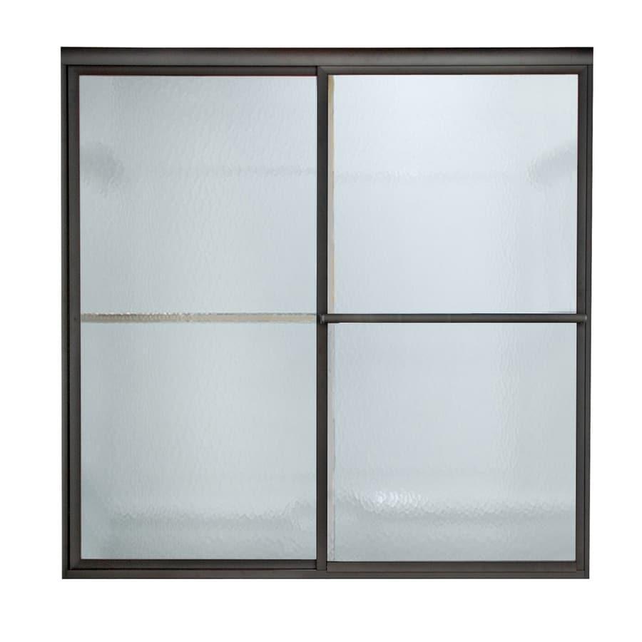 American Standard Prestige 56-in to 60-in W x 71.5-in H Oil-Rubbed Bronze Sliding Shower Door