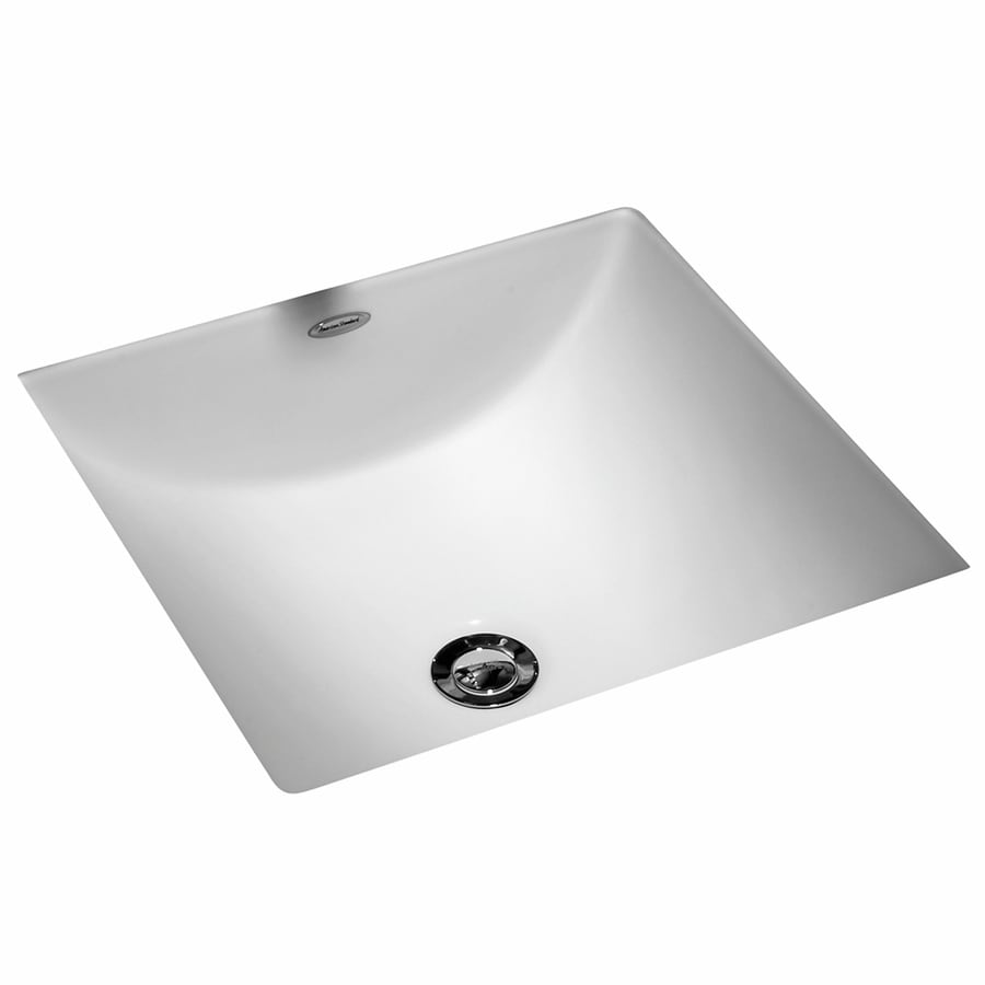 Shop American Standard White Undermount Square Bathroom Sink With Overflow At