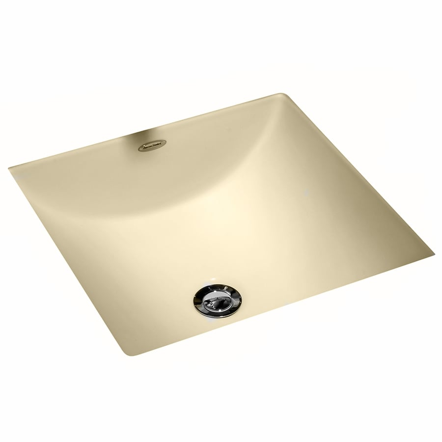 American Standard Bone Undermount Square Bathroom Sink with Overflow
