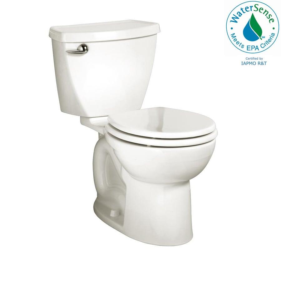 American Standard Cadet 3 1.28-GPF (4.85-LPF) White WaterSense Round Standard Height 2-Piece Toilet