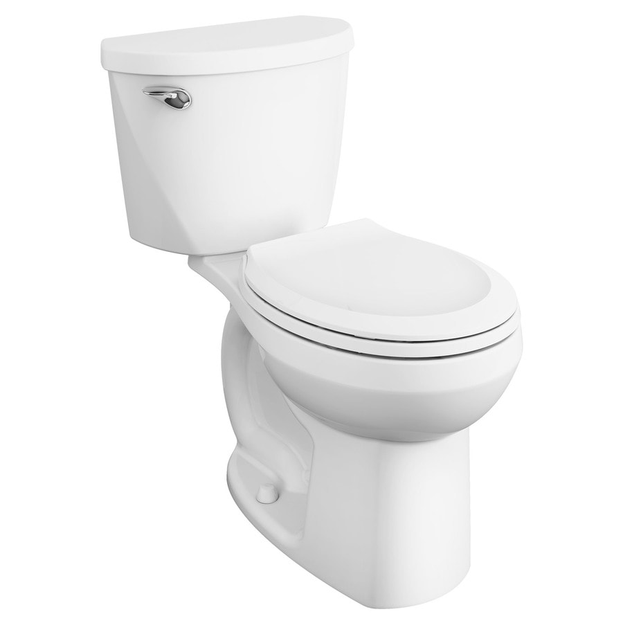 American Standard Mainstream White WaterSense Labeled  Round Chair Height 2-piece Toilet 12-in Rough-In Size
