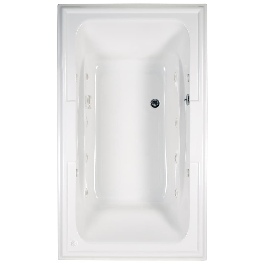 American Standard Town Square Arctic Acrylic Rectangular Whirlpool Tub (Common: 42-in x 72-in; Actual: 22-in x 42-in x 72-in)