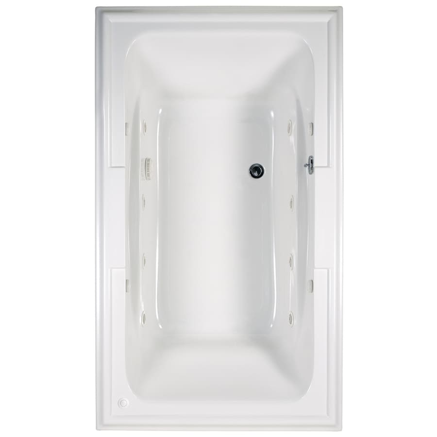 American Standard Town Square White Acrylic Rectangular Whirlpool Tub (Common: 42-in x 72-in; Actual: 22-in x 42-in x 72-in)