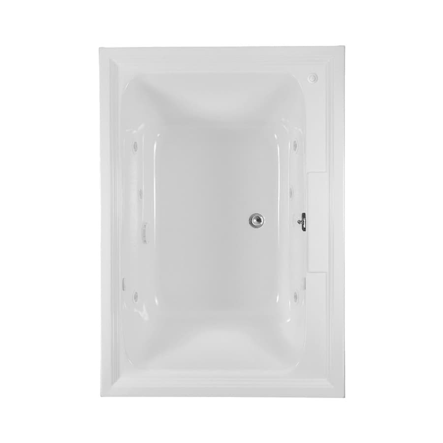 American Standard Town Square 72-in White Acrylic Drop-In Whirlpool Tub with Center Drain