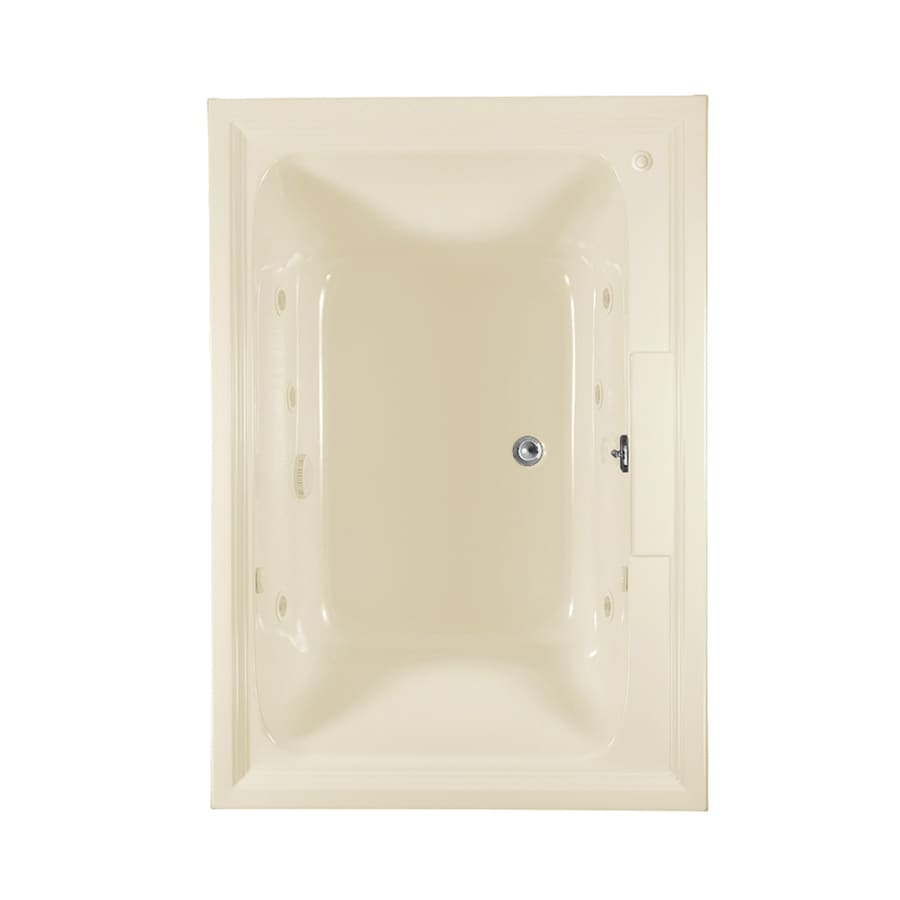 American Standard Town Square Linen Acrylic Rectangular Whirlpool Tub (Common: 42-in x 72-in; Actual: 22-in x 42-in x 72-in)