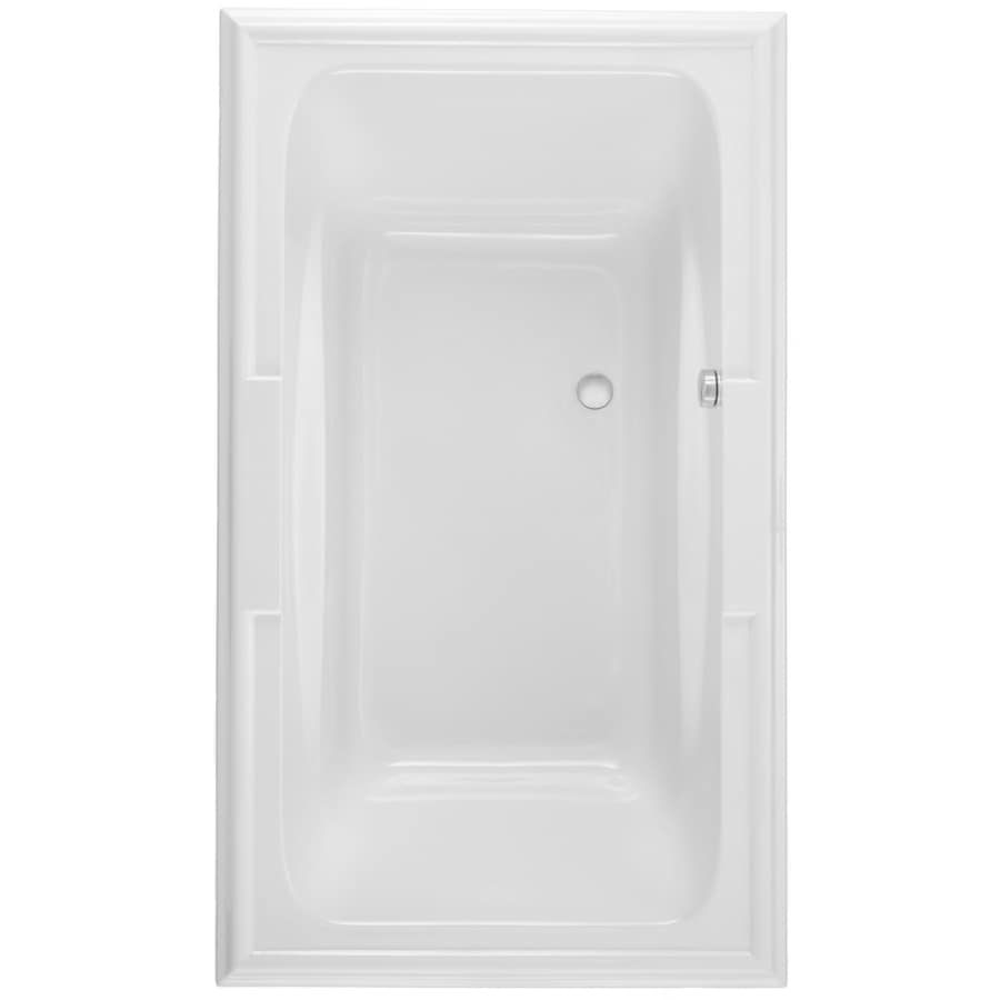 American Standard Town Square 71.5-in L x 41.75-in W x 22-in H Arctic White Acrylic Rectangular Drop-in Air Bath