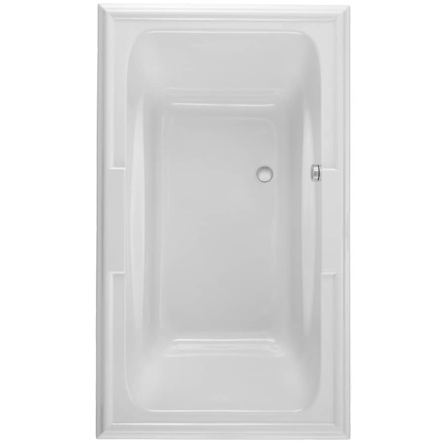American Standard Town Square 71.5-in White Acrylic Drop-In Air Bath with Reversible Drain