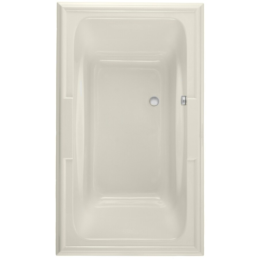 American Standard Town Square 71.5-in Linen Acrylic Drop-In Air Bath with Reversible Drain