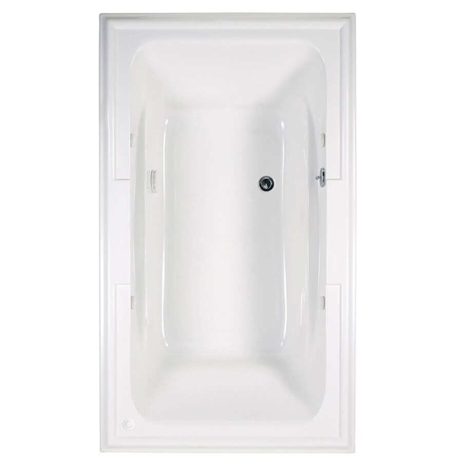 American Standard Town Square 71.5-in Arctic Acrylic Drop-In Air Bath with Reversible Drain