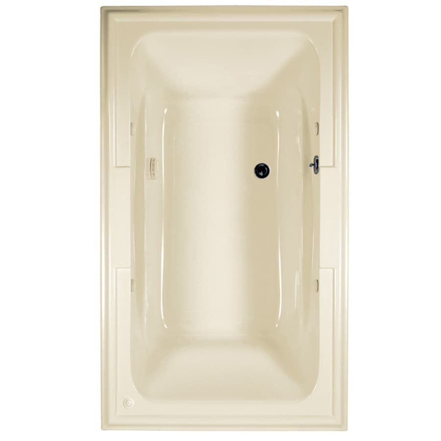 American Standard Town Square 71.5-in L x 41.75-in W x 22-in H Linen Acrylic Rectangular Drop-in Air Bath