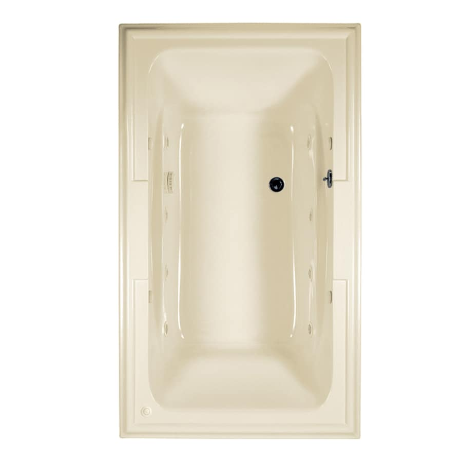 American Standard Town Square 72-in L x 42-in W x 22-in H Linen Acrylic Rectangular Drop-in Whirlpool Tub and Air Bath
