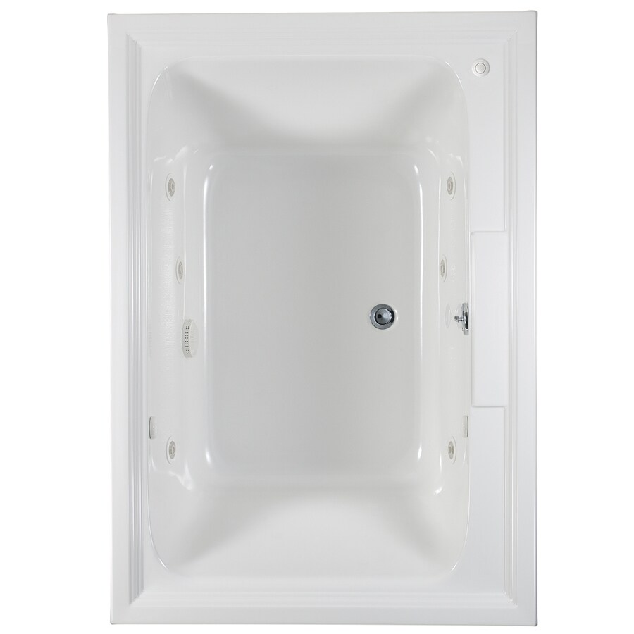 American Standard Town Square White Acrylic Rectangular Whirlpool Tub (Common: 42-in x 60-in; Actual: 23-in x 42-in x 60-in)