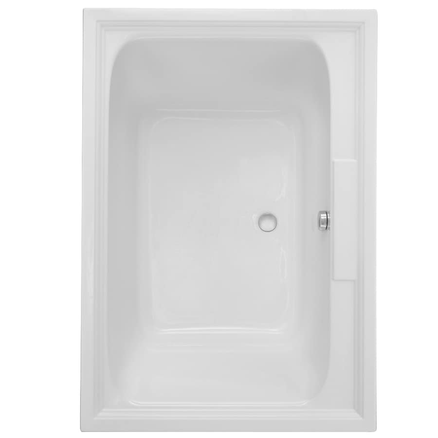 American Standard Town Square 59.5-in L x 41.625-in W x 23-in H White Acrylic 2-Person-Person Rectangular Drop-in Air Bath