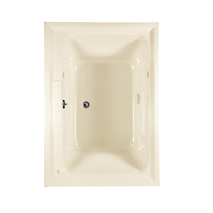 American Standard Town Square 59.5-in Linen Acrylic Drop-In Air Bath with Center Drain