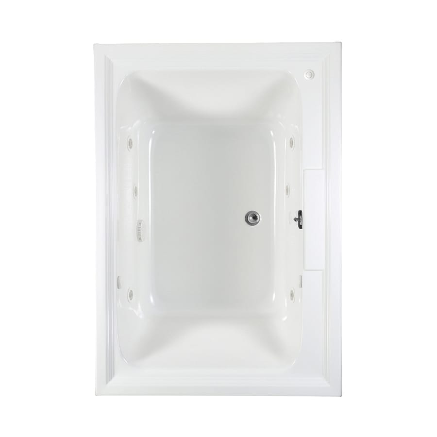 American Standard Town Square 60-in L x 42-in W x 23-in H White Acrylic Rectangular Whirlpool Tub and Air Bath