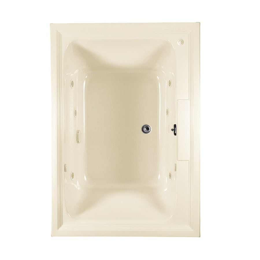 American Standard Town Square 60-in L x 42-in W x 23-in H Linen Acrylic Rectangular Drop-in Whirlpool Tub and Air Bath