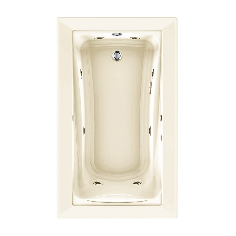American Standard Green Tea 60-in Linen Acrylic Drop-In Whirlpool Tub with Reversible Drain