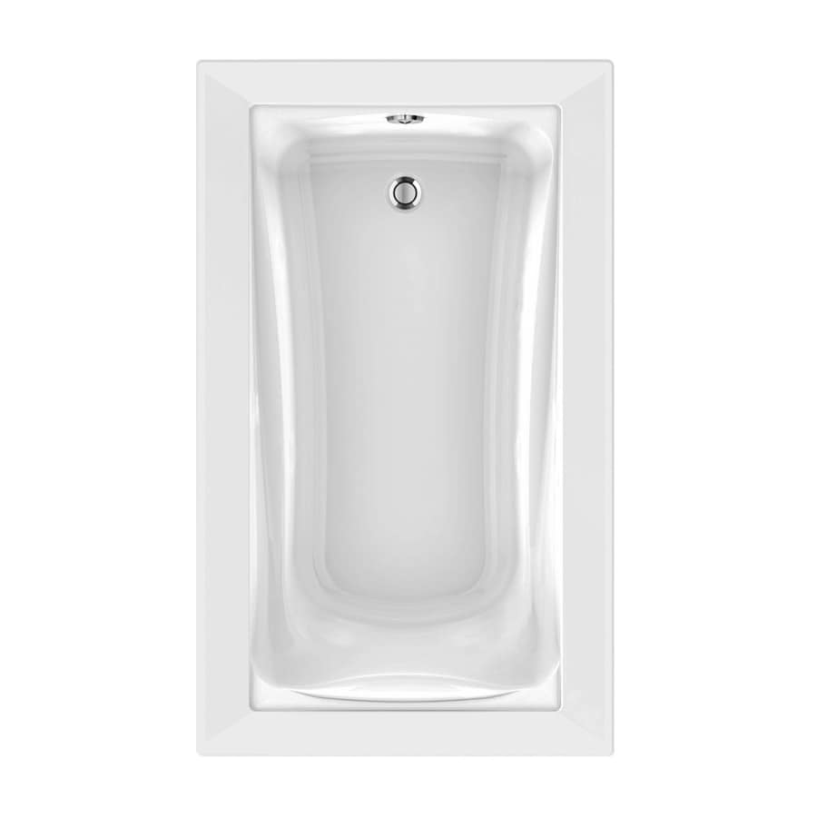 American Standard Green Tea 60-in White Acrylic Drop-In Air Bath with Reversible Drain