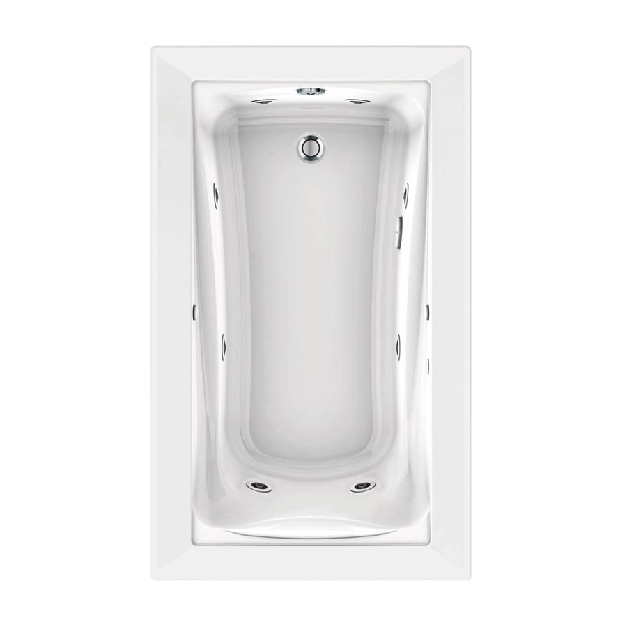 American Standard Green Tea 60-in L x 36-in W x 21-in H White Acrylic Rectangular Drop-in Whirlpool Tub and Air Bath