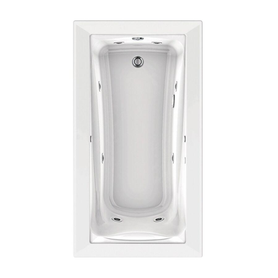 American Standard Green Tea 66-in White Acrylic Drop-In Whirlpool Tub with Reversible Drain