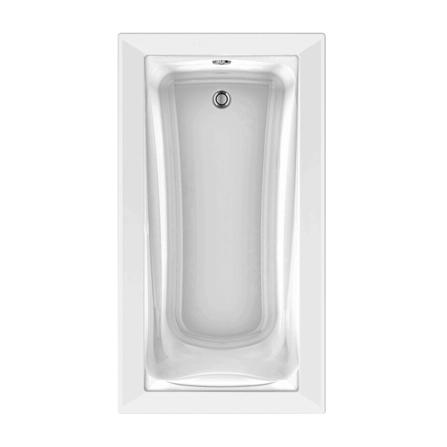 American Standard Green Tea 66-in White Acrylic Drop-In Air Bath with Reversible Drain
