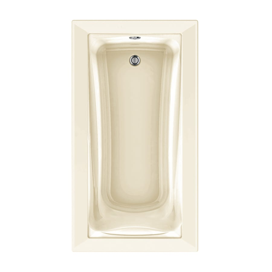 American Standard Green Tea 66-in Linen Acrylic Drop-In Air Bath with Reversible Drain