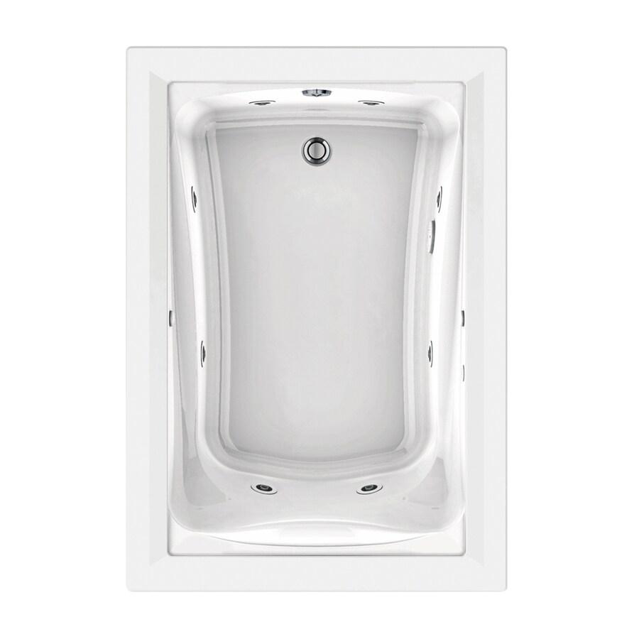 American Standard Green Tea 60-in White Acrylic Drop-In Whirlpool Tub with Reversible Drain