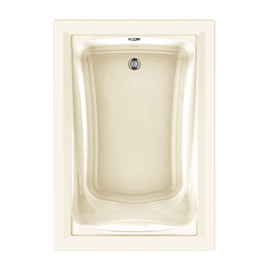 American Standard Green Tea 60-in Linen Acrylic Drop-In Air Bath with Reversible Drain