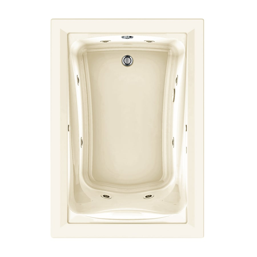 American Standard Green Tea 60-in Linen Acrylic Drop-In Whirlpool Tub and Air Bath with Reversible Drain