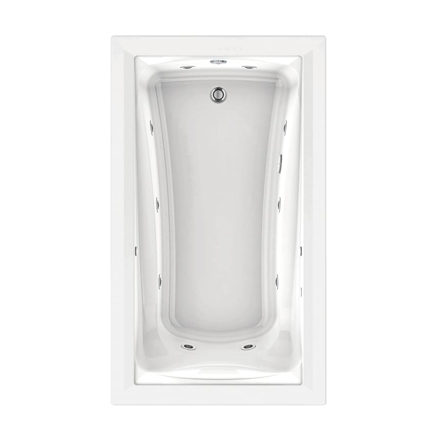 American Standard Green Tea White Acrylic Rectangular Whirlpool Tub (Common: 42-in x 72-in; Actual: 21-in x 42-in x 72-in)