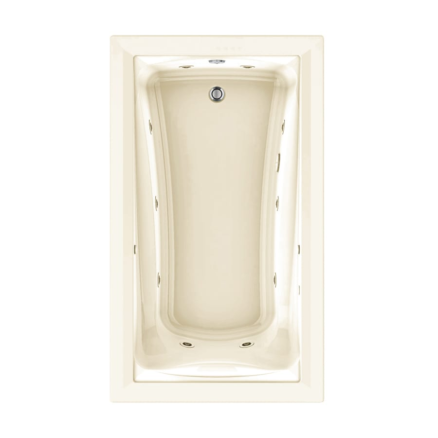 American Standard Green Tea 72-in Linen Acrylic Drop-In Whirlpool Tub with Reversible Drain